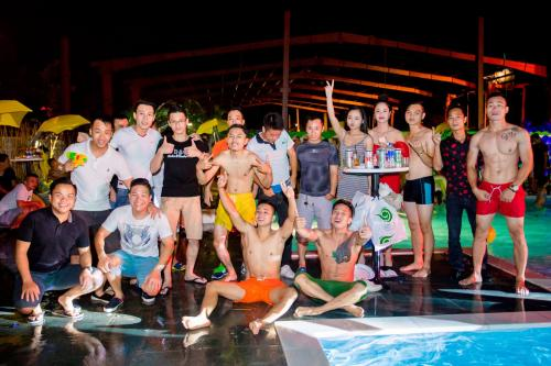 Pool party in Green Fitness & Yoga Center